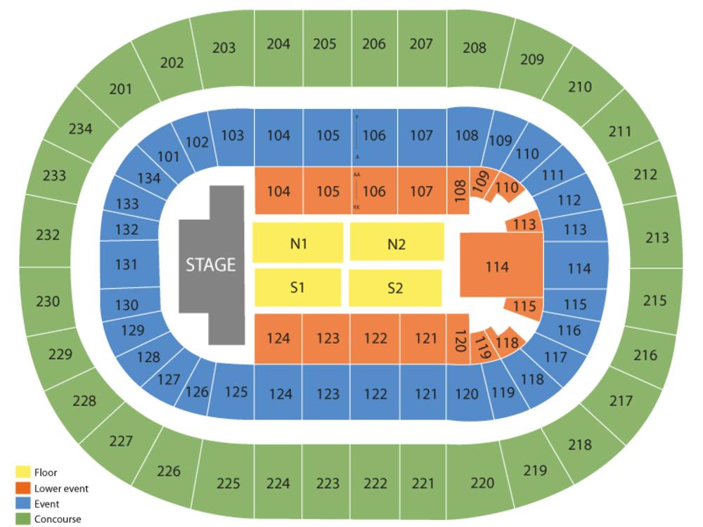 Bryce Jordan Center Seating Chart
