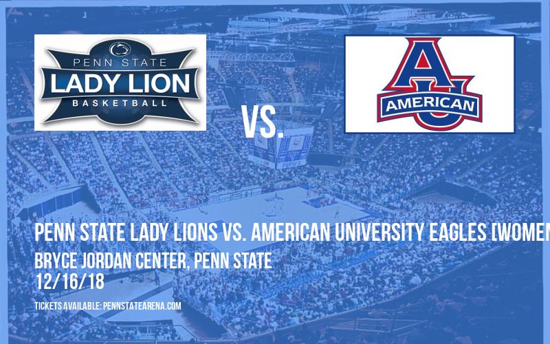 Penn State Lady Lions vs. American University Eagles [WOMEN] at Bryce Jordan Center