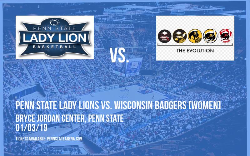 Penn State Lady Lions vs. Wisconsin Badgers [WOMEN] at Bryce Jordan Center