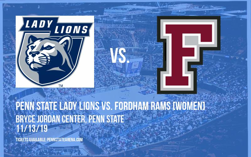 Penn State Lady Lions vs. Fordham Rams [WOMEN] at Bryce Jordan Center